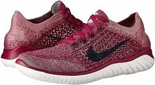 Nike Free RN Flyknit 2018 Women's Running Shoes Raspberry Red / Black Size 7.5
