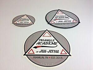 "* TRIANGLE Karate Jiu-Jitsu Academy* Martial Arts 6"" Patch & Decals. Free S/H"