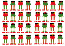 Christmas Elf Legs x 32 Cupcake Toppers Edible Wafer Paper Fairy Cake Toppers