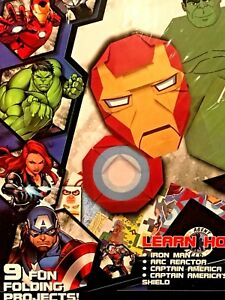 Marvel Avengers Origami & Fun Fold-Ups Kit Iron Man Captain America Hulk & More