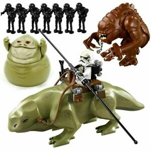 Star Wars Rancor Planet Blocks Model Cartoon Toys Dewback Figure Jabba Kids Toys