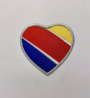 PATCH Southwest Airlines Heart Logo Jacket sew-on iron-on large size fabric