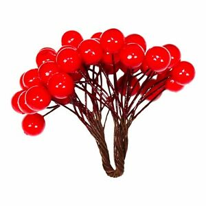 Handmade Christmas Festive Red Berries For Xmas Wreath Hanging Tree Decorations