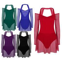 Women Adult Lyrical Ballet Dance Dress Leotard Girls Dancewear Gymnastic Costume