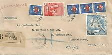 MONACO 1956 REGISTERED TYPED COVER TO LONDON INCLUDES 100f AIR REF