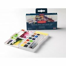 Derwent Inktense Paint Pan Travel Set Water Soluble Paint NEW