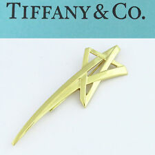 NYJEWEL Tiffany & Co Paloma Picasso 18K Yellow Gold Star Pin Brooch Huge 85X28mm