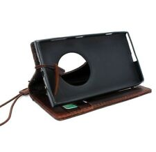 genuine Leather case for Nokia Lumia 1020 book Wallet Phone cover thin brown new