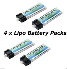 Latest Lectron 4 packs of 180mAh 1S 3.7V 45C LiPo Battery for Blade Inductrix