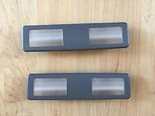 BMW E34 E32 overhead map vanity visor light lamp pair OEM gray or black