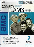 Comedy Teams DVD 2 Movies Bob Hope, Bing Crosby - Road to Bali, Bud Abbott Lou C