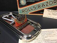 Vintage Rolls Razor Viscount With Instructions, Blade Cover Original Box London
