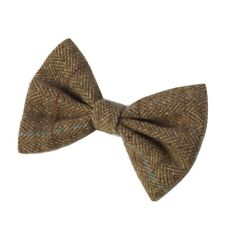 HOUSE OF PAWS BROWN TWEED DOG BOW TIE