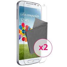2x Films de protection anti traces de doigts Clear HD pour Galaxy S4 i9500 ®
