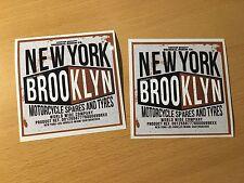 2x New York Pegatina Sticker moto motorista Cafe Racer Old School retro m009