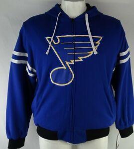 St. Louis Blues NHL Men's G-III Heavy Reversible Pullover Hoodie Blue/Black