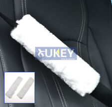CAR AUTO FAUX WOOL FUR FLUFFY SEAT BELT COVER SEATBELT PAD HARNESS SHOULDER BABY