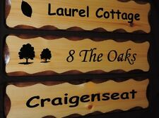 Wooden House Sign, Personalised House Sign, House Name Plaque, Rustic House Sign
