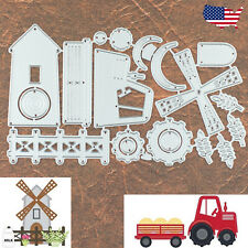 Farm Windmill and Tractor Harvester Cutting and Embossing Dies