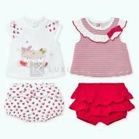 Set T-shirt Stampate e Pantaloncini Rosso Neonata Mayoral 1672