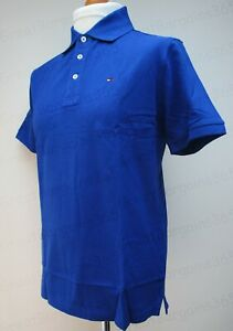 Tommy Hilfiger Mens Golf Polo Tops Short Sleeve 100% Cotton Blue Red S M L New*