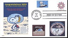 SNOOPY THE ASTRONAUT NASA 40 YR ANNIVERSARY APOLLO MOON DOGS IN SPACE FDC- DWc