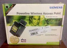 Siemens SpeedStream Powerline 802.11b Wireless Access Point SS2521 Sealed NIB