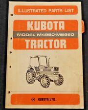 GENUINE KUBOTA AM4950 M5950 TRACTOR PARTS CATALOG MANUAL VERY GOOD SHAPE