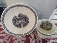 Vintage Crown Ducal Gainsborough Cup & Saucer* Rural England Pattern