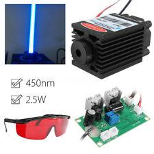 3pcs 450nm 2.5W 2500MW Lasermodul Set Blau Laser Modul + Brille Graviermaschine