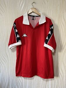 KAPPA 90s FOOTBALL SHIRT SOCCER JERSEY RED sz XL