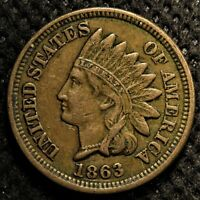 1863 Indian Head Cent with full LIBERTY and nearly four full diamonds!