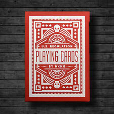 RED WHEEL DECK OF PLAYING CARDS BY USPCC BICYCLE & DKNG POKER SIZE MAGIC TRICKS