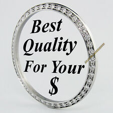 Mens VS2 White Gold Bead-Set Diamond Bezel 36mm Rolex Watch 16234 Datejust 1 ct