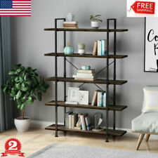 5-Tier Wood Bookcase Bookshelf Storage Shelving Book Furniture for Home Office