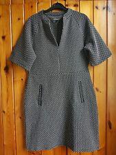 Next Ladies Smart Work polka dot Dress Size UK 12 Colour Black/White