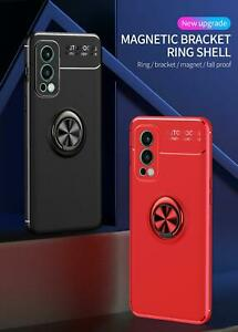 For OnePlus Nord 2 5G Case, Magnetic Ring Armor Shockproof Stand Phone Cover