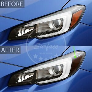 Fit 15-20 Subaru WRX/STI Head Light Amber Delete Smoke Precut Tint Cover Overlay