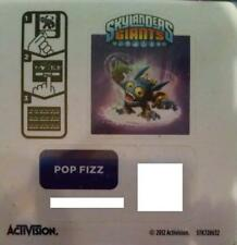 Pop Fizz Skylanders Giants Sticker/Code Only!