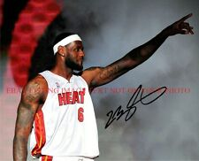 LEBRON JAMES MIAMI HEAT AUTOGRAPHED 8x10 RP PHOTO THE ONE AND ONLY GREAT