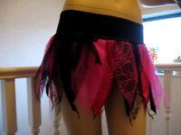 Fairy Alternative Skirt Adult Black pink web Petal Spiders Rock Gothic Hen Party
