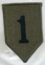 US Army Vietnam Era 1st Infantry Division OD Subdued Patch