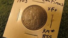 World Coin France 1903 25 Centimes KM#855  Nickel Steel