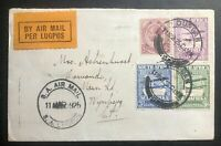 1925 Durban South Africa Early Airmail Flight Cover to Wynberg Cape Town