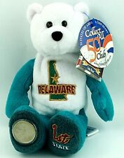 "Limited Treasures State Quarters Coin Teddy Bear Delaware #1 Bean Bag 8"" A6"
