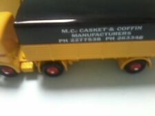 MODIFIED ATLAS DINKY PANHARD SEMI TRAILER MC CASKET AND COFFIN MANUFACTURES BOXD