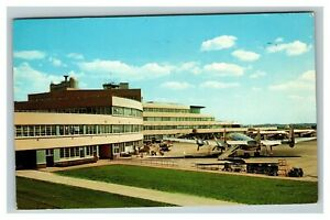 Vintage 1963 Postcard Antique Plane Greater Pittsburgh Airport Pennsylvania