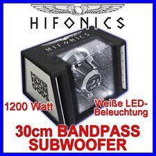 Hifonics ATLAS ATL12BP - 30cm Bandpass Subwoofer 1200 Watt LED 12' 146dB Gehäuse