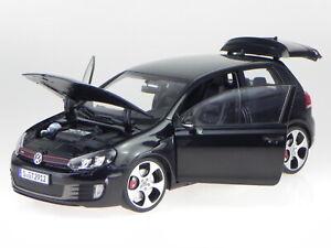 VW Golf 6 GTI 2009 black diecast model car 188502 Norev 1:18