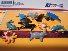 """24 2 """" SMALL PLASTIC BABY OCEAN ANIMALS. CARNIVAL OR EDUCATIONAL TOYS. PARTY"""